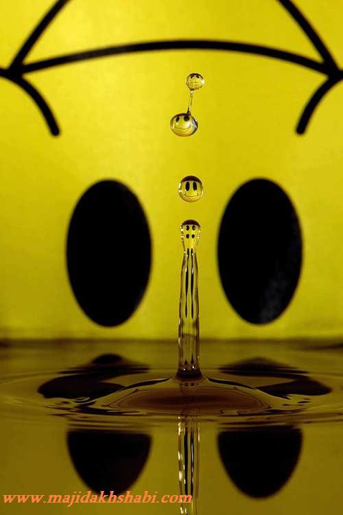 هنر نمایی با قطرات آب