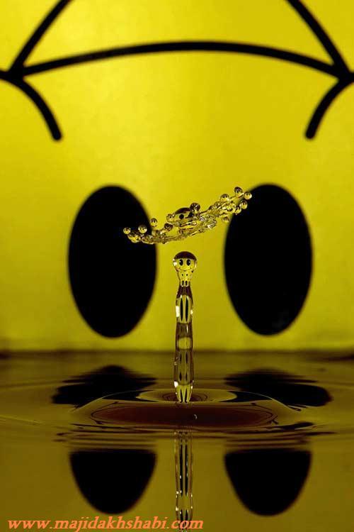 هنر نمایی با قطرات آب سایت رسمی مجید اخشابی www.majidakhshabi.com
