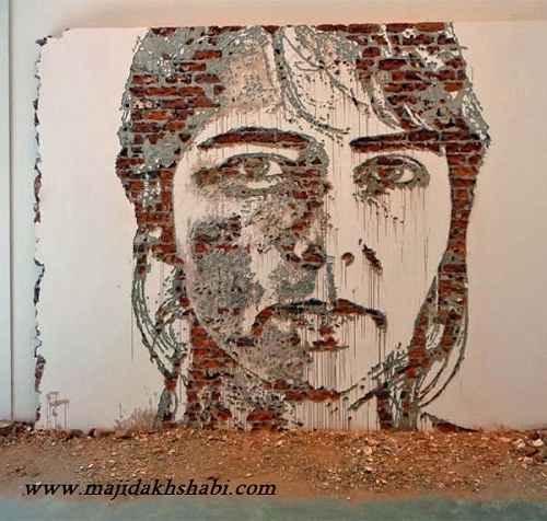 هنر عکاسي: نقاشی با تراشیدن دیوار
