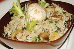 خوراک قارچ با برنج غذايی ضدفشارخون و سكته