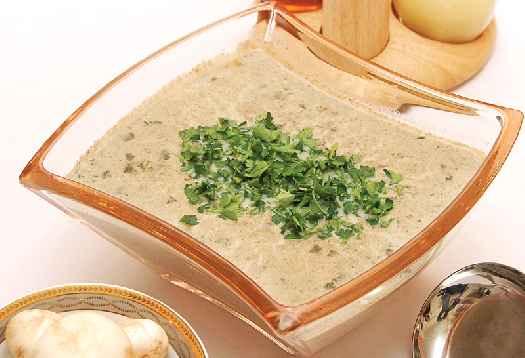 سوپ قارچ كبابی