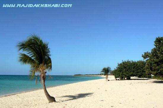 سواحل شنی سفید رنگ در کوبا