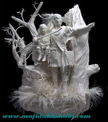 مجسمه کاغذی