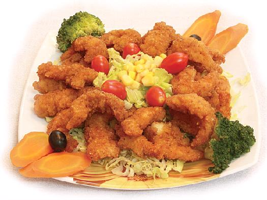 میگوی سوخاری با سبزیجات