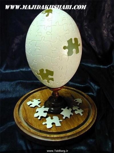 هنر عکاسی:هنر نمایی بر روی پوست تخم مرغ
