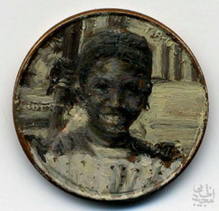 هنر عکاسی: نقاشی های مینیاتوری روی سکه